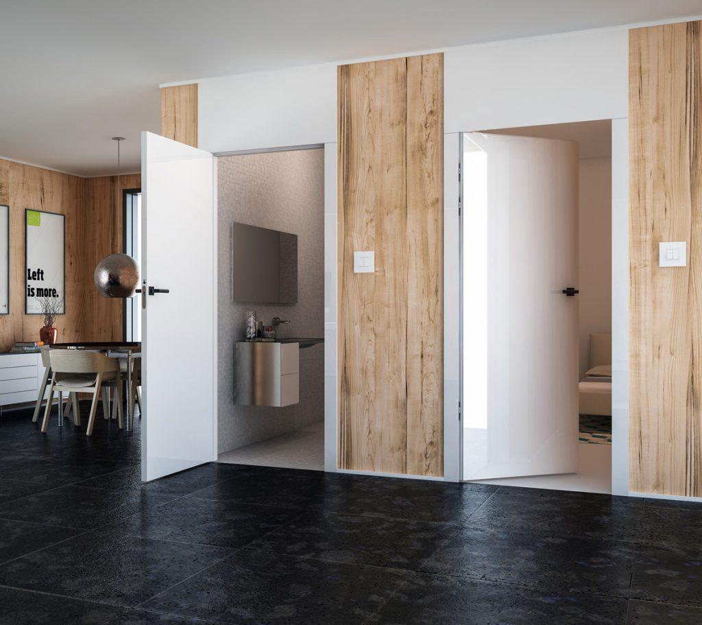 Odwrotna przylga i drzwi bezprzylgowe - otwarte
