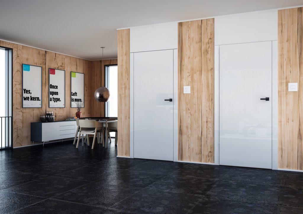 Drzwi z odwrotną przylgą - zamknięte