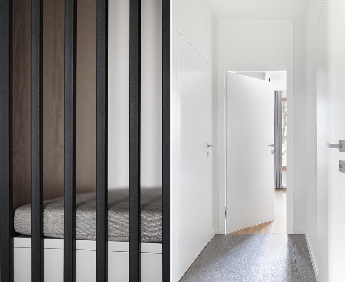 Apartament nad morzem - drzwi z odwrotną przylgą