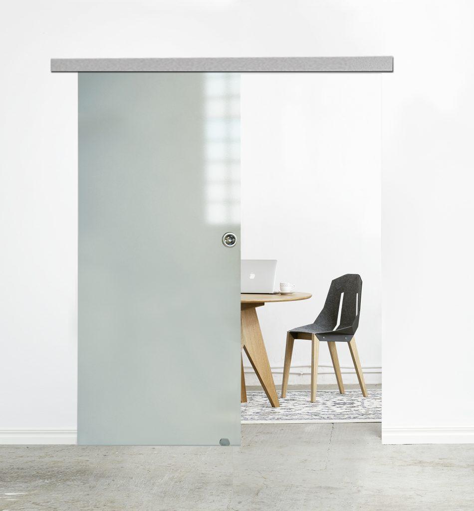 Drzwi przesuwe z systemem MUTO do tafli szklanych