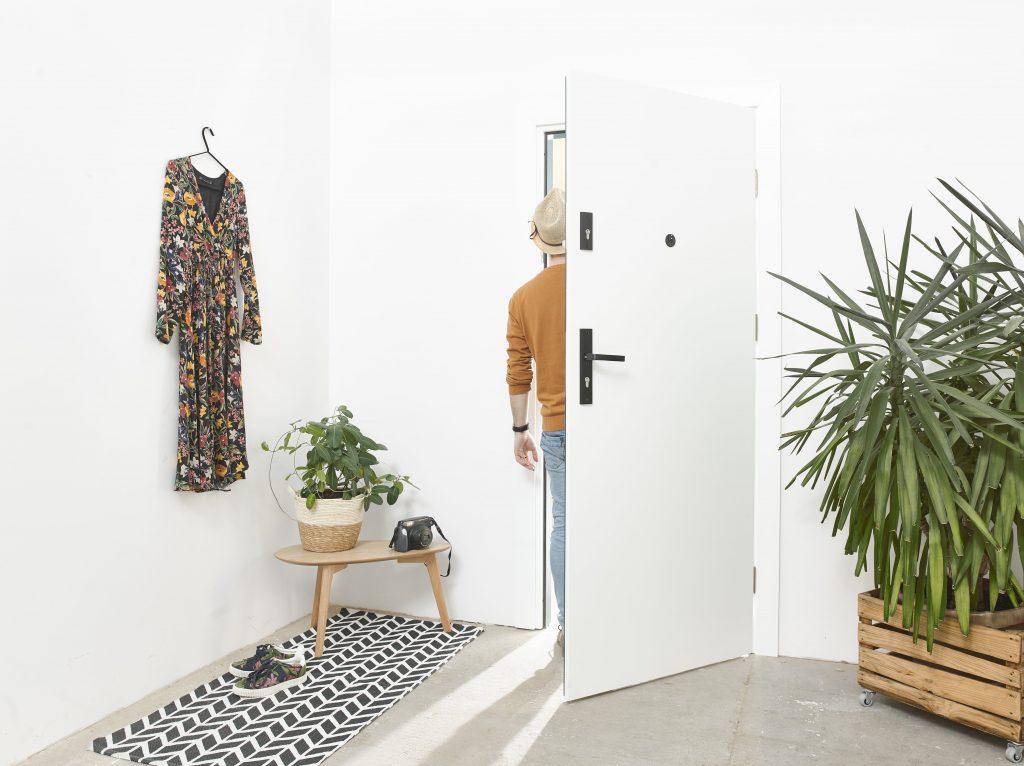 Drzwi wejściowe TOWER - wersja biała