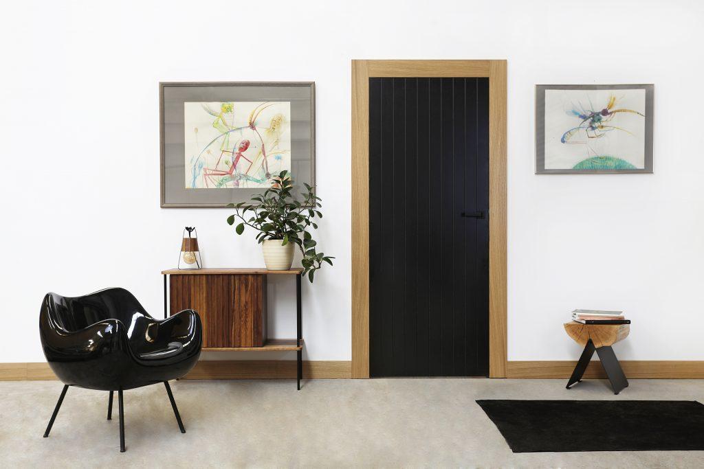Drzwi ze wzorem deski - BARI 4