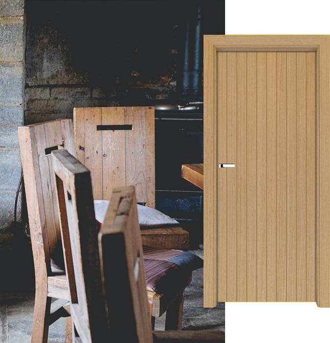 Styl rustykalny - drzwi BARI