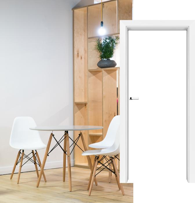 Styl skandynawski - drzwi PŁASKIE
