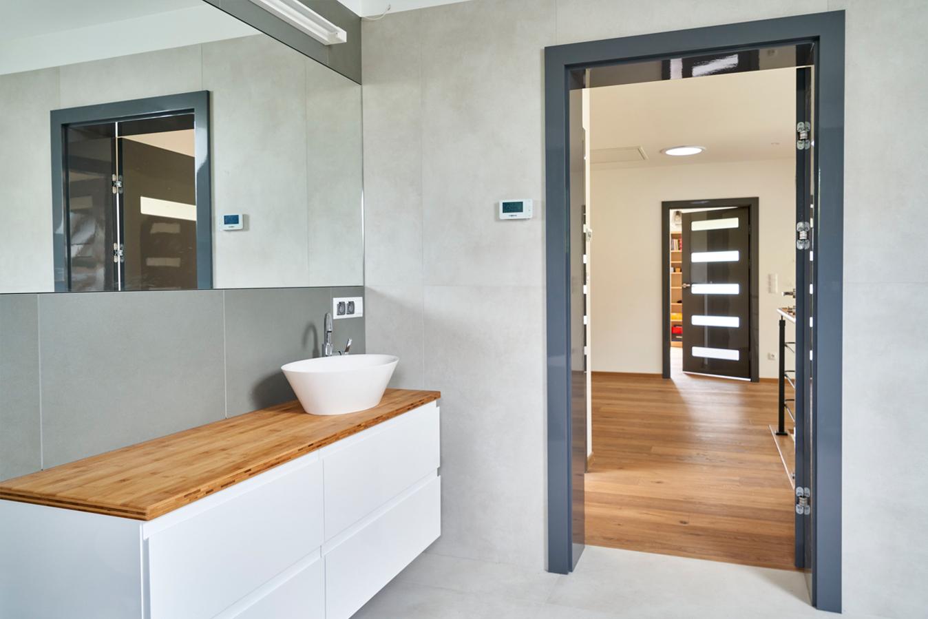 drzwi wewnętrzne BOLZANO dark grey GLOSSA 3 małe