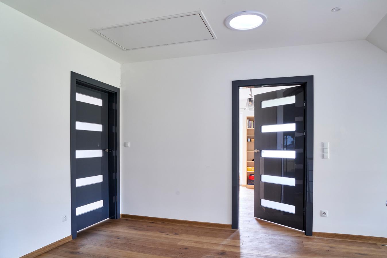 drzwi wewnętrzne BOLZANO dark grey GLOSSA 5 małe