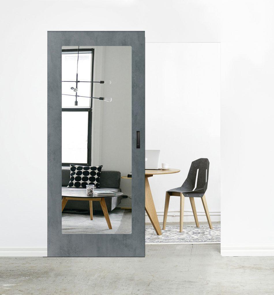 System przesuwny MAGIC - drzwi drewniane CLASSIC z lustrem