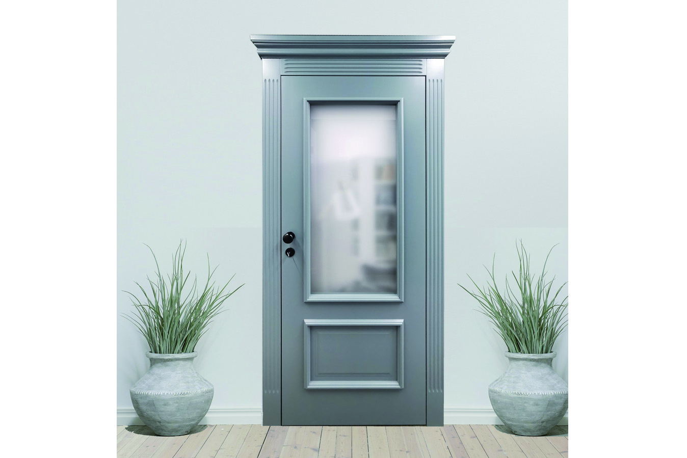 Klasyczne drzwi szare