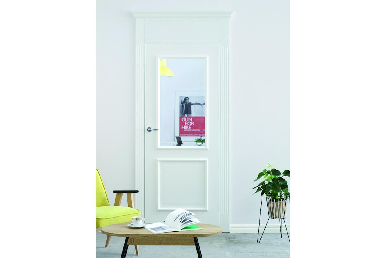 Klasyczne drzwi wewnętrzne białe